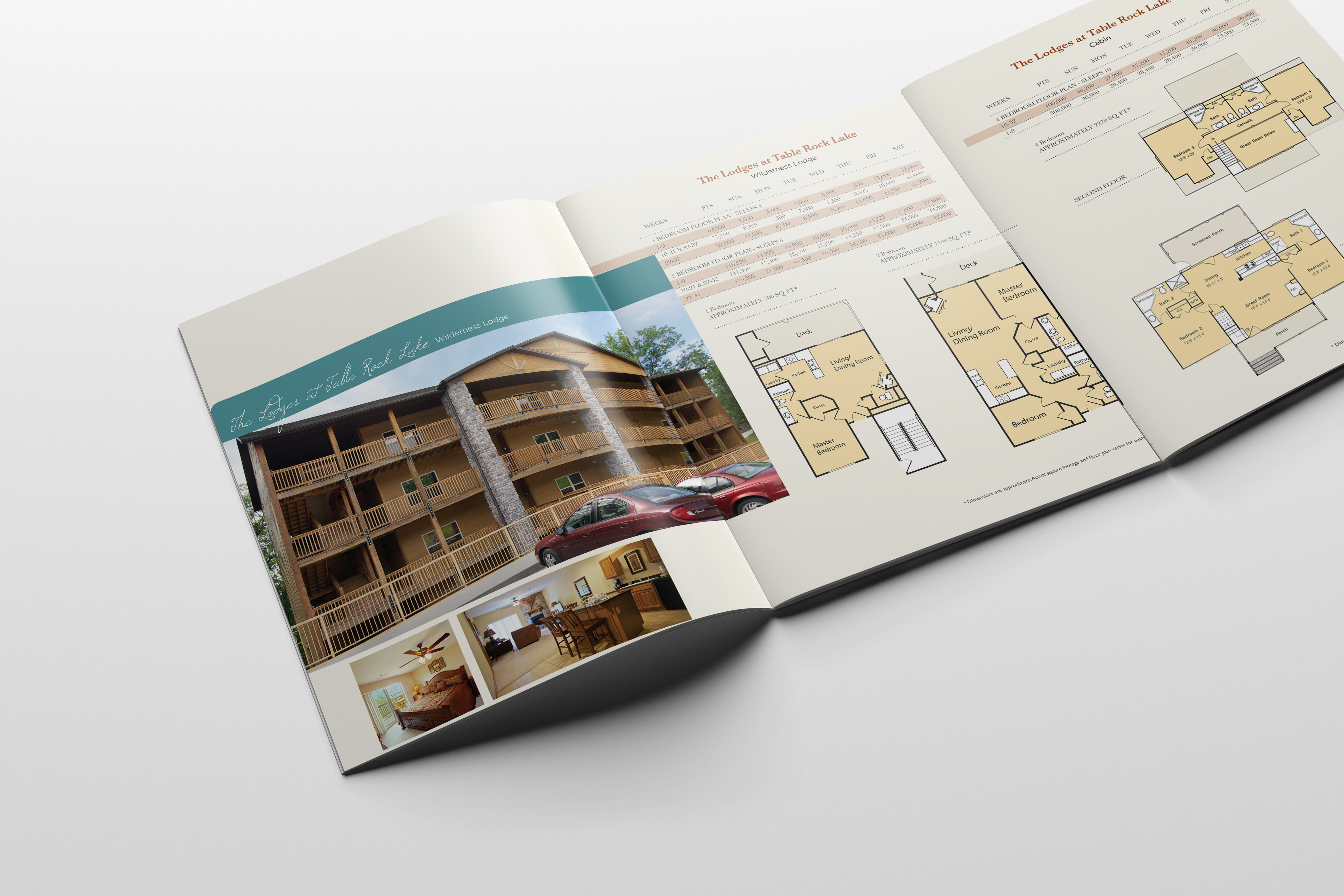 Capital Resorts publication inside foldout