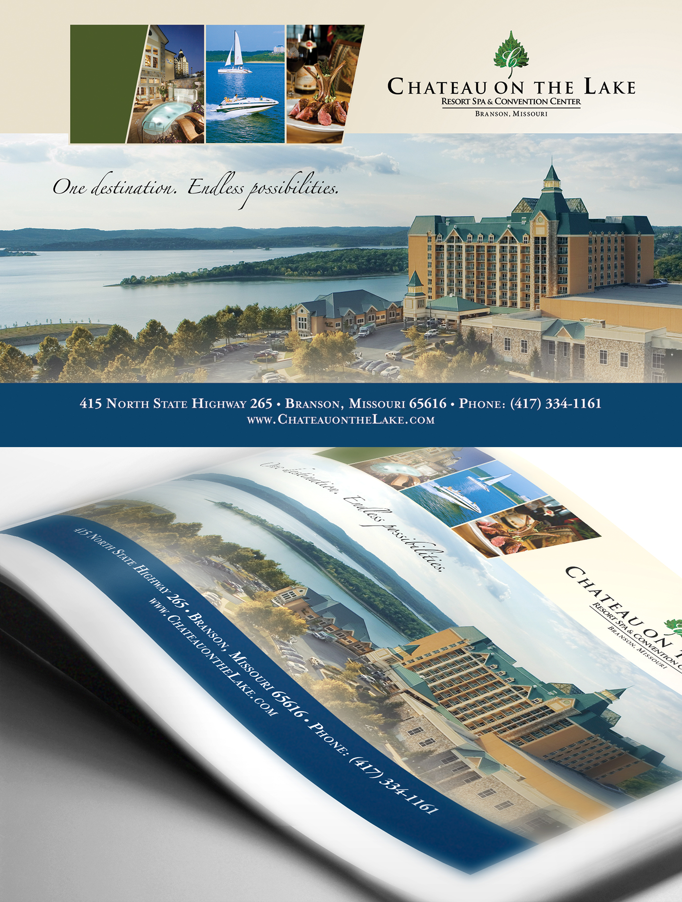 Chateau on the Lake magazine ad