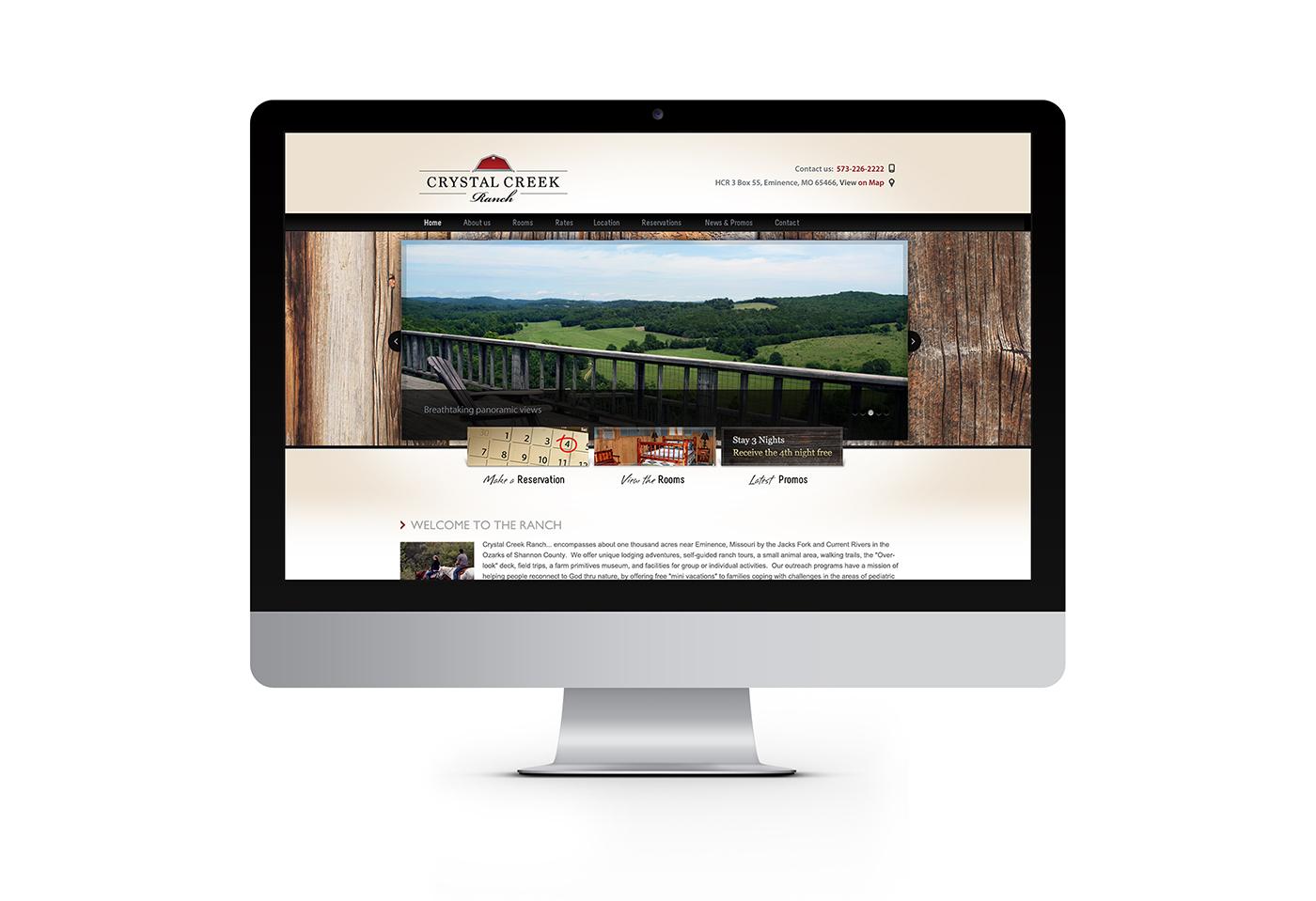 Crystal Creek Ranch website design