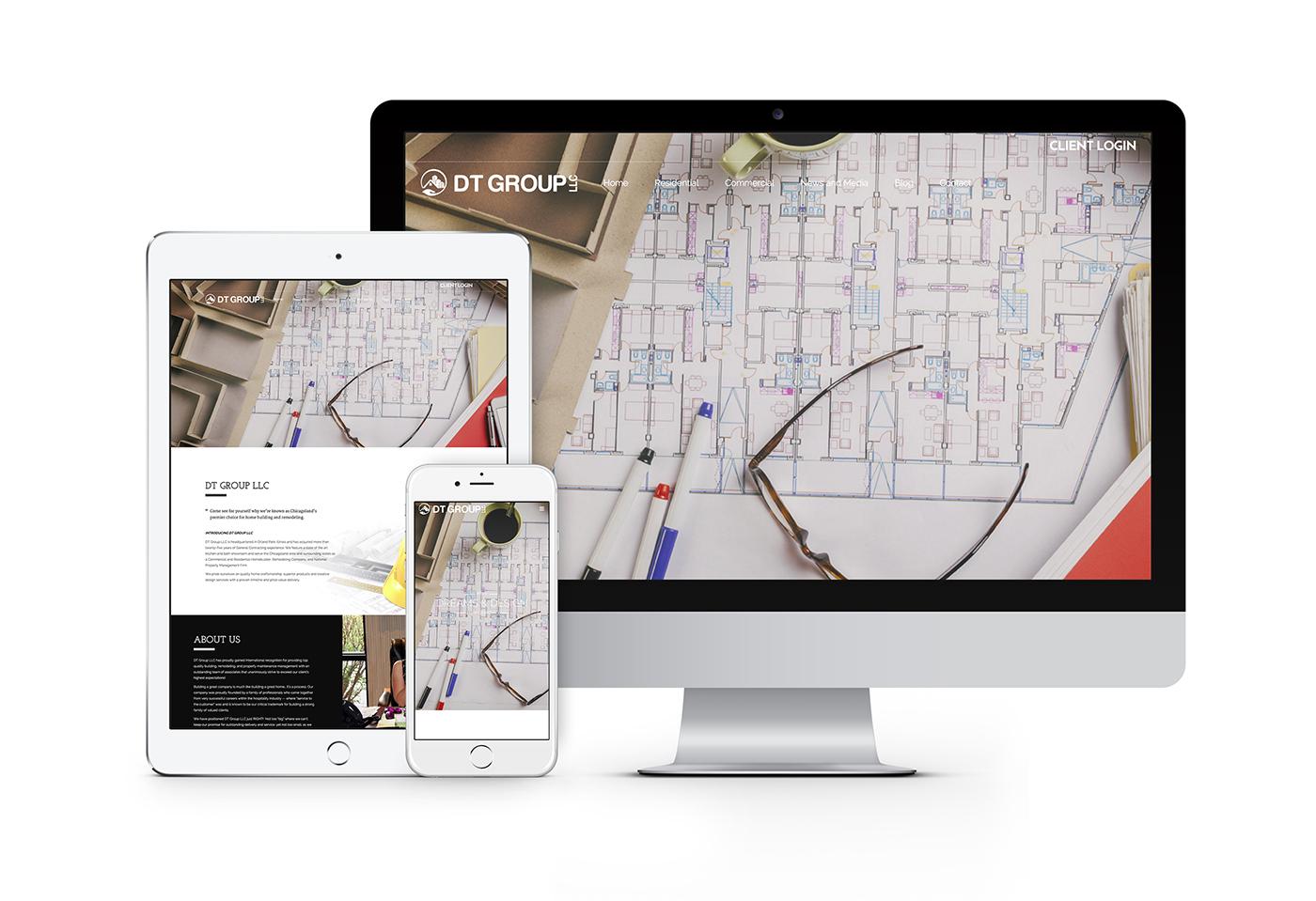 DT Group LLC website design