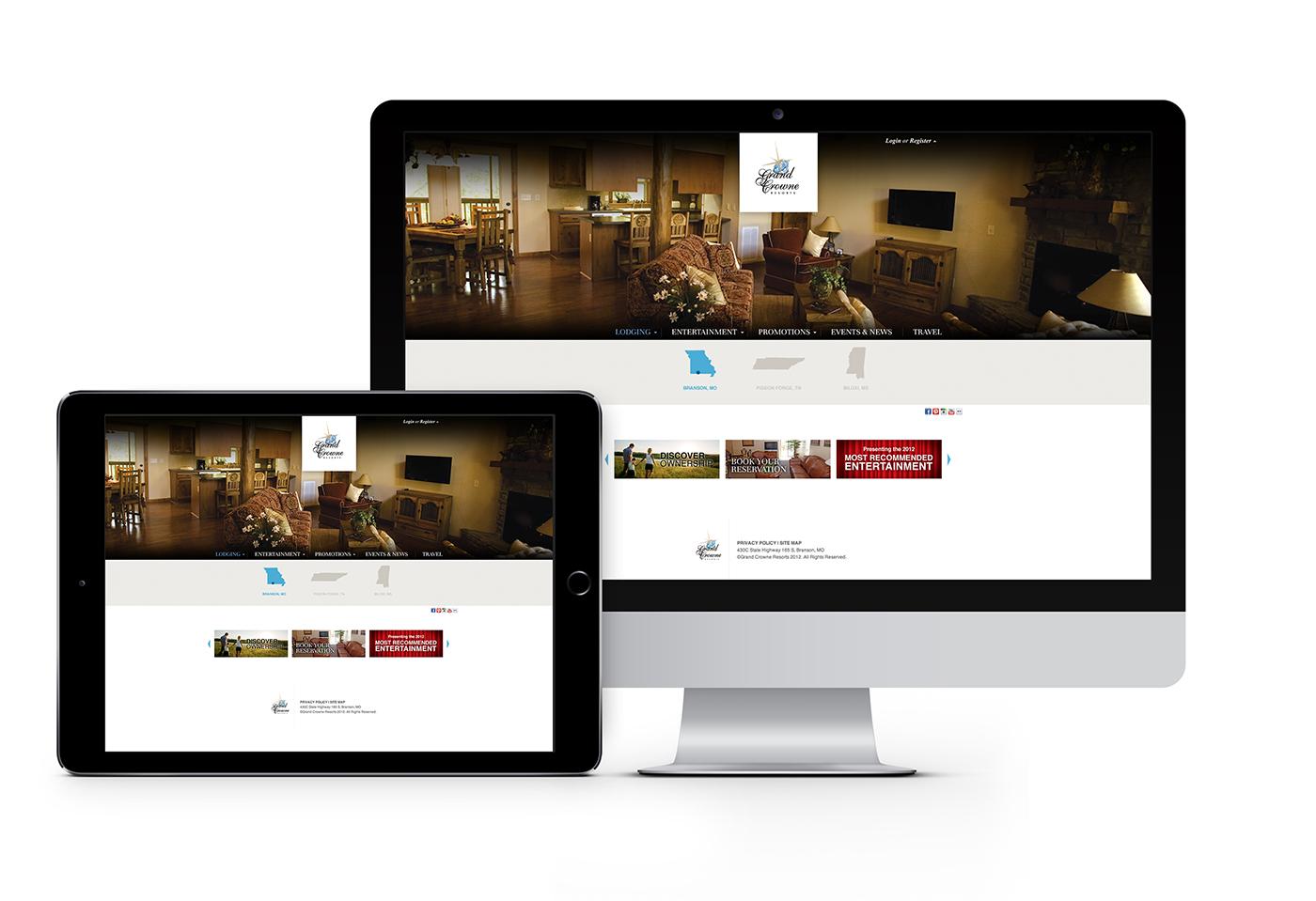 Grand Crowne Resorts website design