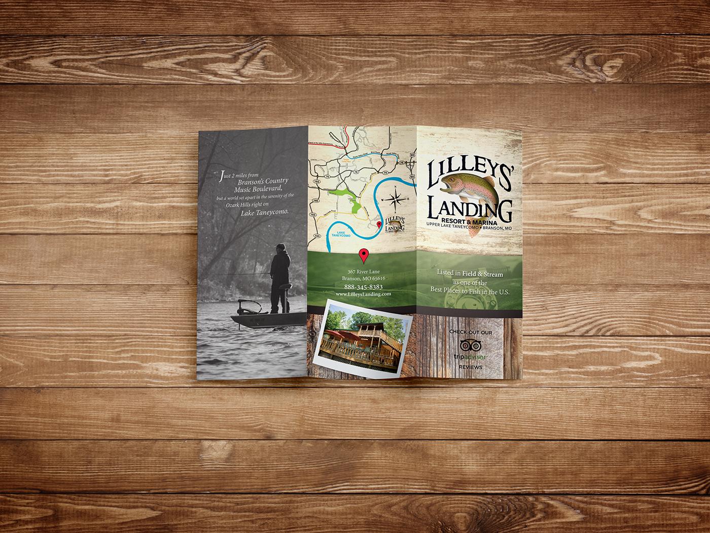 Lilleys' Landing brochure outside