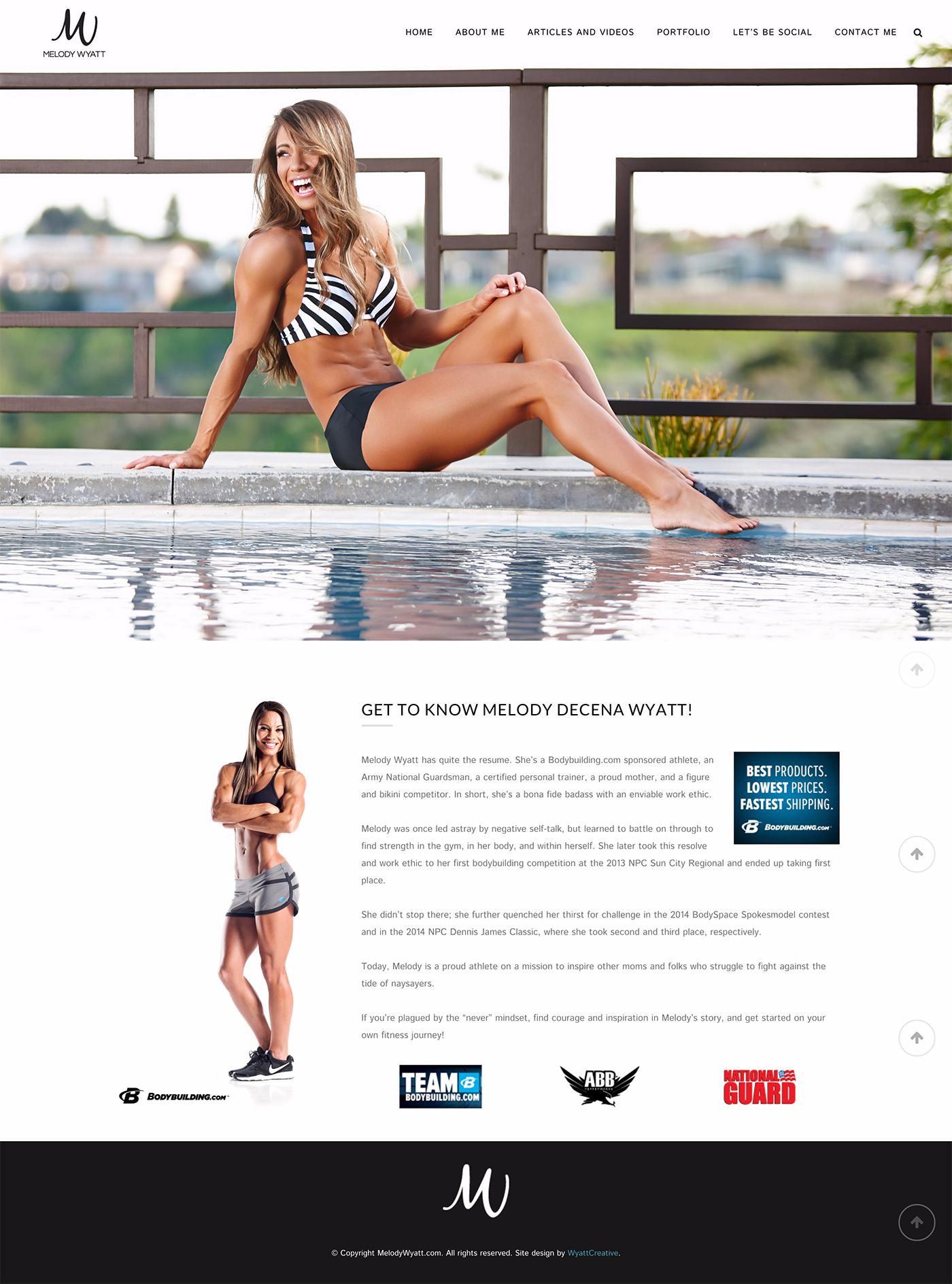 Melody Wyatt website design