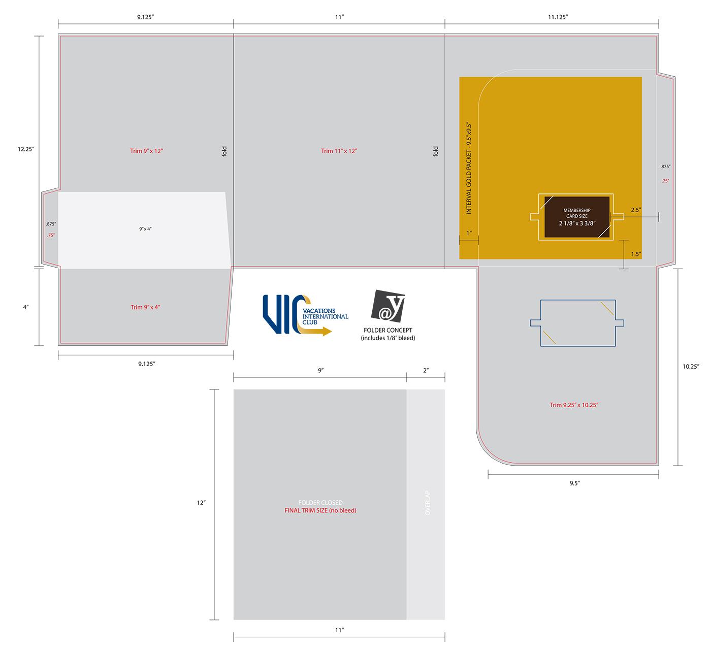 Vacations International Club folder layout